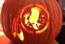 HAIL-O-Ween / Pumpkins, costumes, and decorations - all with a #Redskins theme!   Show us your HAIL-O-Ween best for a Ryan Kerrigan autographed helmet: https://redskins.wufoo.com/forms/w19bgwj81ick6ez/ / by Washington Redskins