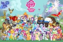 Equestria Eccentric / Rainbow Dash, Vinyl Scratch,Derby,Docter Whooves, Applejack. My favorite! / by Madeline Campbell