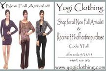Yogi Clothing Promo/Coupons / Stay posted and share with friends for great deals and coupons. Along with contests and giveaways! / by Yogi Clothing