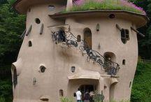 lebendige Architektur / Friedensreich Hundertwasser, Gaudi..... / by Lotte Kl
