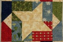 A FABRIC/BW SAMPLERBLOCKS / 1 quilt block patterns b/w = 1 sew fabricblock / by Dorte Rasmussen.Denmark