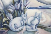 Cats!...The one who does not like the cat...was in their former life a rat!:) / by Jody Bergsma