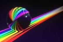 Regenboog kleuren/ rainbow colours / by Wilma Bröcheler