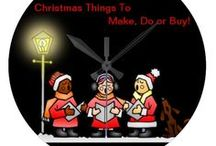 *** CHRISTMAS - Things to make, do or buy ♦♦♦ / Set the mood. Things to make and do for Christmas. If it involves, candy canes, gingerbread, snowmen or penguins-check the other board and pin-away. / by Dandy Mariella