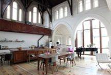 Lofts,Industrial romantic chic decor, / Industrial decor,lofts,designer,home decor, / by Danielle Susman