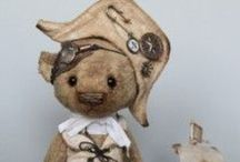 DIY teddy bear,mouse animal doll patterens / Best teddy bears,animals,hand made Teddy's.art teddy bears / by Danielle Susman