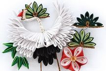 Kanzashi / Tsumami kanzashi - Literally, 'folded fabric hair ornament'. Tsumami kanzashi are made from tiny squares of silk which are folded into petals using origami techniques. / by Pumpkin Picker