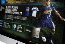 ▲ Index / Boca Juniors / Boca Products, representing products of the football club Boca Juniors of Argentina, has Boca Products, representing products of the football club Boca Juniors of Argentina, has commissioned the design of his website, and promotional pieces. Rescuing fans passion and the strong character of his players we designed photographic backgrounds to give context to the website. The photo editing and layout of the entire site show the essence of the club, and invite their followers to be part of the team / by EstudioIndex Visual Communication