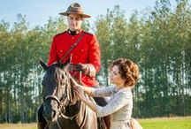"WHEN CALLS THE HEART / NEW SERIES PREMIERES January 11 9/8C ""When Calls the Heart"" starring Lori Loughlin, Erin Krakow & Daniel Lissing is inspired by Janette Oke's bestselling book series about the Canadian West, and reunites Oke with Executive Producer and Director, Michael Landon, Jr. / by Hallmark Channel"