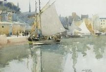 Watercolor (2) : Seascape & Water / by Adolfo Cancelo