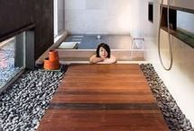 Master Bath / Ideas for my bathroom, keeping it very calming! / by Maria Donaldson