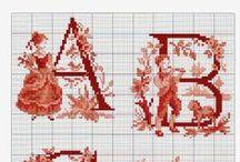 Alfabetten cross stich pattern / by Janny van Haren/tenHaaf