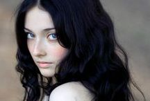 Pale Skin, Dark Hair, Cool Eyes / Favorite Cool Winters, Clear Winters, and Cool Summers. Some altered. / by Mia