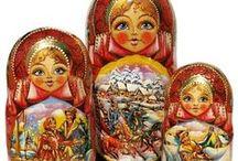 Babushka Dolls / Matryoshka nesting dolls / by GreatRussianGifts.com