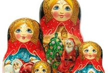 7 Piece Nesting Dolls / A short list of our 7 piece nesting dolls / by GreatRussianGifts.com