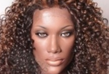 Kinky Curly and Natural Textured Wigs   / We call them hair hats! Fun and fashionable wigs and hairpieces for Black women on the go. Inexpensive styling options for those transitioning from relaxers or simply wanting versatility. Mostly synthetic natural looking pieces.  / by . Mondie