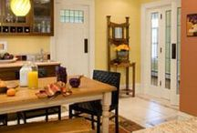 Kitchen & Dining Area / Creating a useable, fun and bright colored living space / by Janelle Tyson