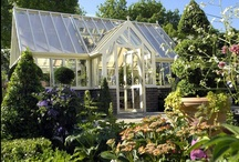Greenhouses etc. - Veksthus o.l. / There are so many types of greenhouses - homemade of old windows, expensive new ones, small for the porch and cloches. Even sunrooms and conservatories are suitable for that use too. I would wish to have a big victorian greenhouse. But until then I shall pin....  / by Resa Hansen