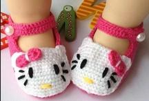 Crochet Dolls & Hello Kitty & Mickey / by crochet crazy