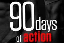 90 Days of Action / The 90 Days of Action is a comprehensive three month non-stop fitness program with visual easy-to-follow daily exercise routines + a balanced menu.  http://neilarey.com/programs/90-days-of-action.html / by Neila Rey