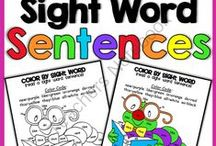 Kinder-1st Grade Word Worksheet  / by Mikyoung C