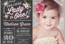 bday ideas- little lady pink and black / our pretty little lady is 1 / by holly lock