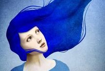 Out of the blue / art, illustrations, craft, photos and objects in blue and indigo / by Jean Williams