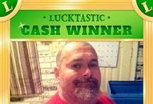 Featured REAL Cash Winners / Play Lucktastic Scratch for a chance win REAL cash every day! Here's a showcase of happy winners and their checks. :) Free mobile awesomeness. / by Lucktastic Scratch