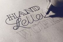 Typography/Calligraphy / the beauty of the alphabet / by Nadine Soh