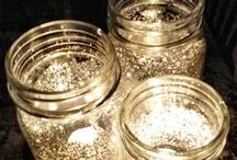 Glass jars, sparkly lights, making something beautiful out of the basic.  / by Megan Hunt