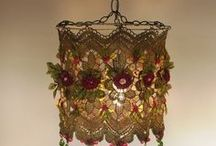 Lamp Shades After A Makeover / by Jo Hooper