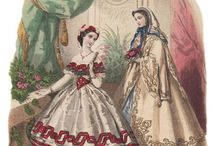 1855 - 1863 Cage Crinoline or hoopskirt period.  / Mid Victorian Ladies Costume / by Costume Diaries