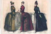 1883 - 1890 Second Bustle Period / Late Victorian Bustle dresses.  / by Costume Diaries