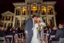 "A ""Golden Girl"" & Her Groom(and his dog) / One of LSU's Golden Girls held her wedding and reception at Nottoway Plantation! Of course the groom had to have the support of his Best Man (a.k.a. Man's Best Friend) on the special day. Photography by TJ Mohr Photography / by Nottoway Plantation"