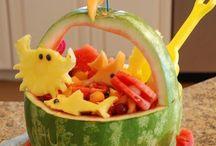 Cute Fruit desserts& snacks / by Kelly Mezzaroba