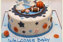 Sports theme baby shower / by Kelly Mezzaroba