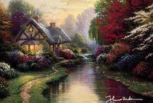 Thomas Kinkade - American Painter of Light (January 19, 1958 - April 6, 2012 / by G Z