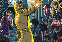 """Avengers Assemble! / A rotating roster became the hallmark, although one theme remained consistent: the Avengers fight """"the foes no single superhero can withstand."""" / by Paul Davis"""