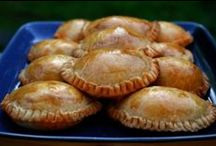 EMPANADAS, SAMOSAS, POCKETS, KNISHES , CALZONES ,STUFFED BREADS / Hand held yummy  food pockets / by Tosha Tobias