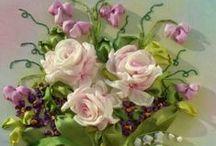 kwiaty-wstążka / by gosia xxxx