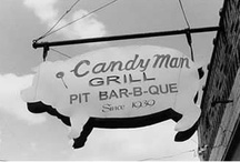 bbq ads: SIGNS & STOREFRONTS / BBQ signs and storefronts  (tags: BBQ, Barbecue, Barbeque, Bar-b-cue, Bar-b-que, B-B-Q, grill, grilling, campfire, chuckwagon, chuck wagon) / by BBQ Explorer
