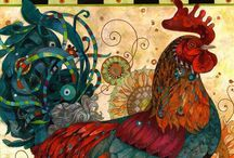 Chicken and Rooster / by Wilma Bague