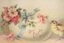 images vintages pâques printemps / by christelle halix