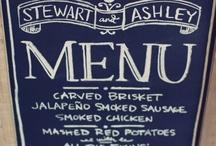 {menu} / by vintage rentals denver