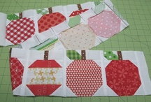 Image Quilts / Tutorial to make apple quilt blocks - part of a row by row quilt along / by Leila Gardunia