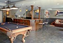 """Man Caves / Different styles of """"Man Caves"""" / by Cypress Homes"""