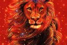 Leo zodiac symbols / by Amulet and Ornament