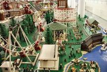 Lego Millyard Project / The LEGO® Millyard Project is the largest permanent LEGO® installation at minifigure scale in the world. The project represents Manchester's Amoskeag Millyard as it might have looked circa 1900. The Amoskeag Manufacturing Company was commonly recognized as the largest textile manufacturer in the world by 1915.This model represents a portion of the east side, along with part of downtown Manchester, the city that the Amoskeag company helped to build.  / by SEE Science Center