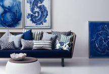 Color - Dutch Blue / #Hollandsblauw #dutchblue op verschillende wijzen toegepast 2014 -     - Stylist by Fonteyn Outdoor Living Mall - Model by Brad Models  / by Joucke Van de Pol