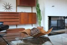 home / family room / Modern meets seventies biker. Think plush rug, warm colors. / by Kandace Brigleb